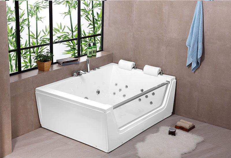 A056 170cm Two Person Whirlpool Massage Bathtub