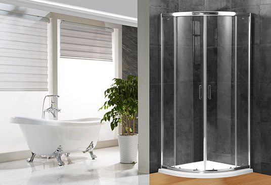 A1800 4/5/6mm Glass Sliding Door Quadrant Shower Enclosure