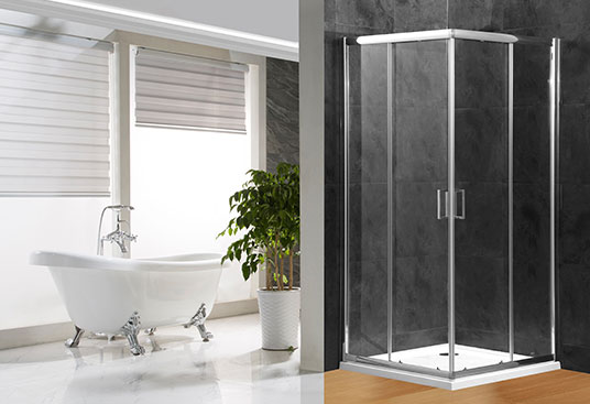 A1800F 4/5/6mm Glass Sliding Door Square Shower Enclosure