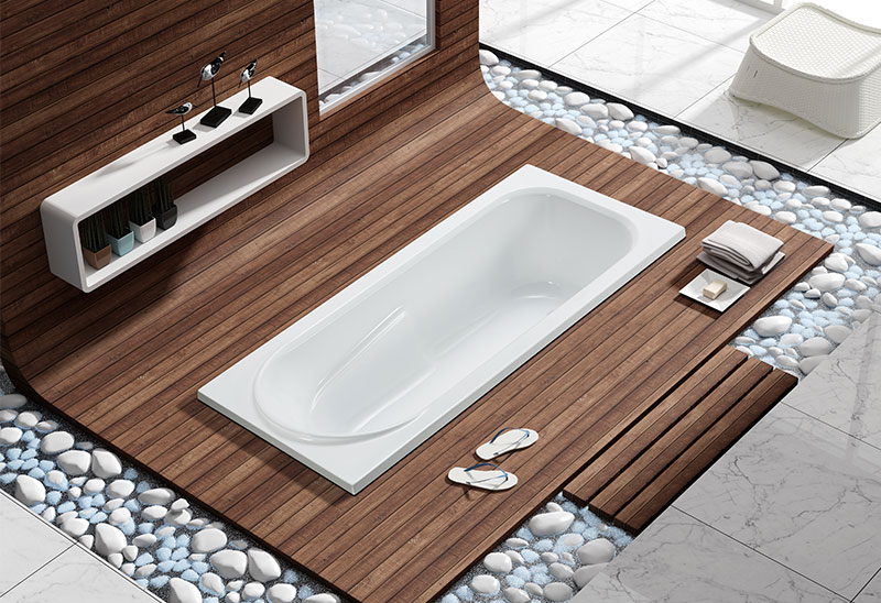MV030W 150 167cm Rectangular Drop-in Bathtub