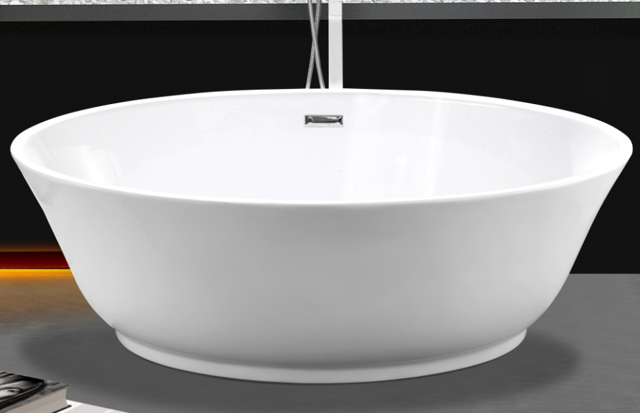 67 Inch Acrylic Round Freestanding Bathtub For Adult