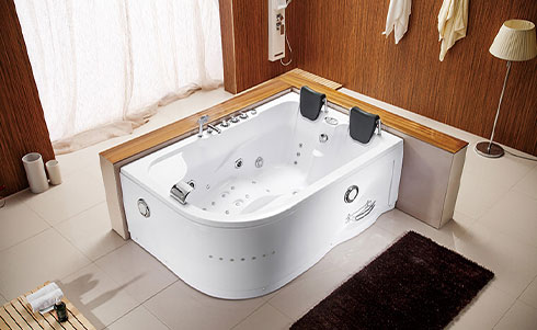 How to realize shower + bath in an area less than 3㎡? Grooved groove on the bathtub, walk-in properly