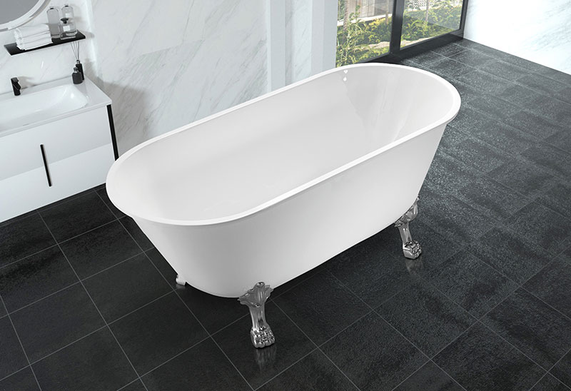 63 inch Acrylic Freestanding Bathtub With Feet