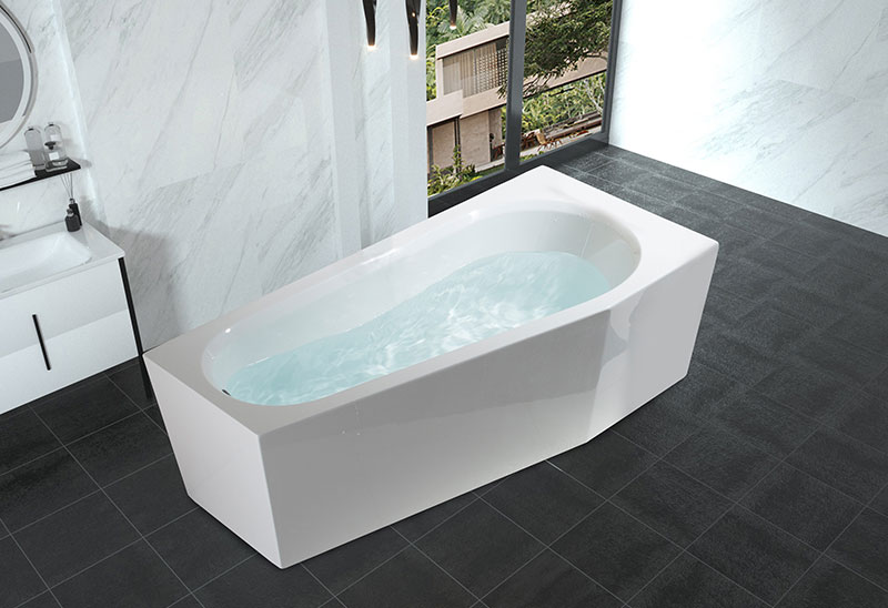 59 67 inch Cornner Soaking Bathtub Freestanding