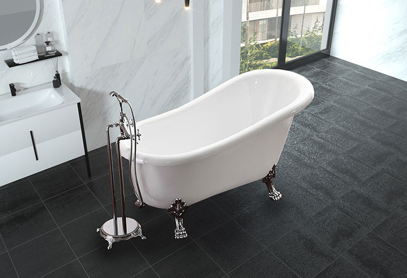 59 inch Freestanding Classical Bathtub With Feet