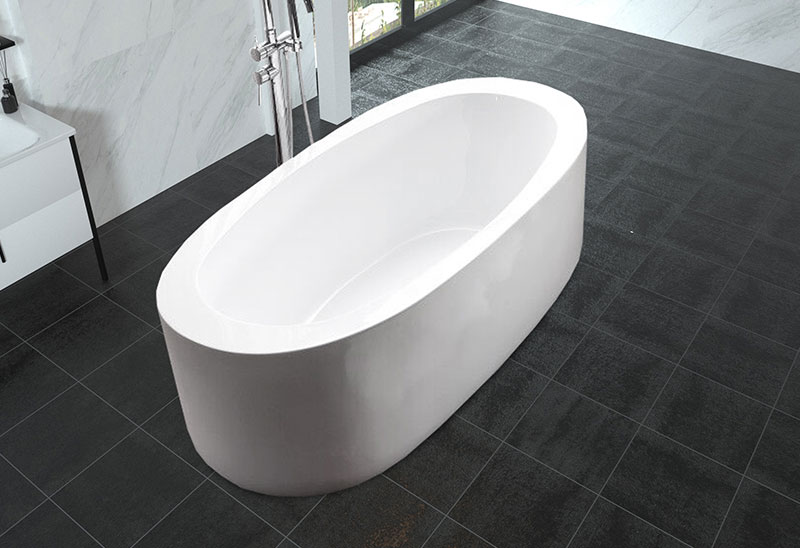 59 inch Oval shaped Soaking Freestanding Bathtub