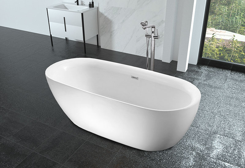 MV026D 60/65/71 inch Oval Shaped Soaking Freestanding Bathtub
