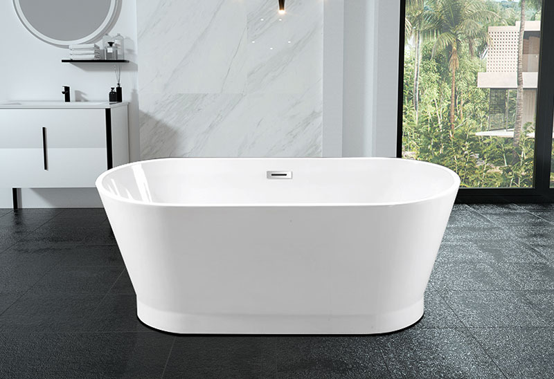 63 inch Acrylic Freestanding Soaking Bathtub