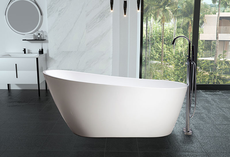 59 63 67 inch Moden Freestanding Soaking Bathtub
