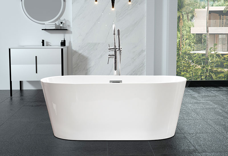 53 59 inch Small Freestanding Acrylic Bathtub