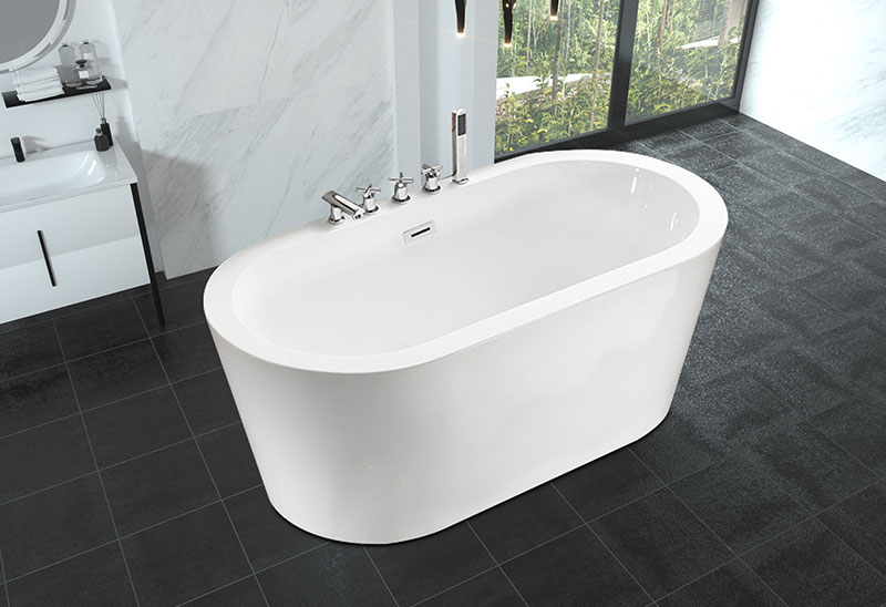 53 59 inch Small Bathroom Bathtub Freestanding