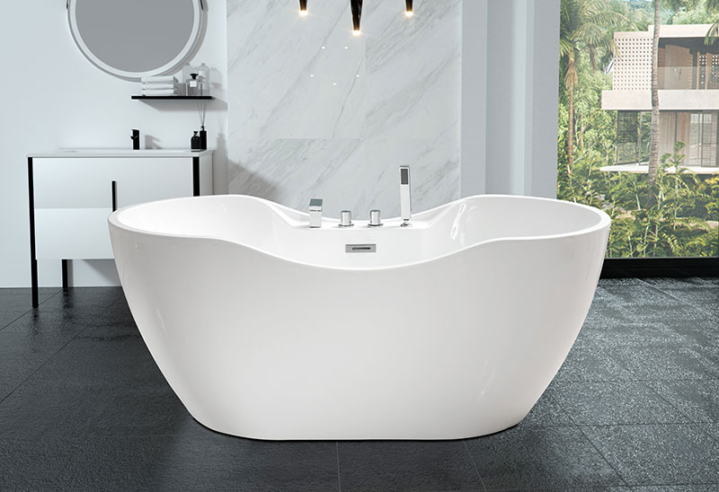 59 67 Inch Acrylic Freestanding Soaking Bath tub