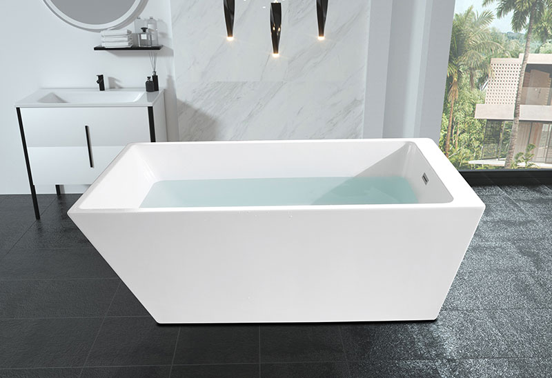 55 59 63 67 Inch Square Acrylic Freestanding Bathtub