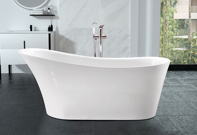 67 Inch Acrylic Stand Alone Freestanding Bath Tub