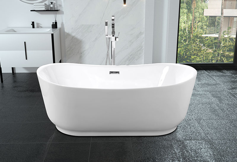 67 Inch Acrylic Movable Freestanding Baths