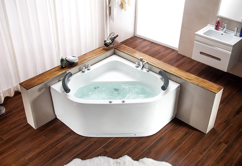 A043 130cm Two Person Whirlpool Jacuzzi Bathtub