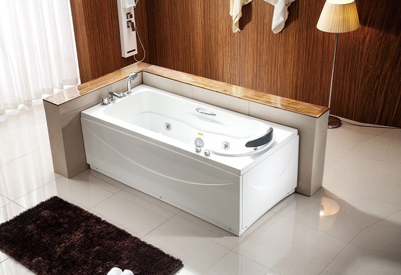 A045 160 170cm One Person Whirlpool Massage Bathtub