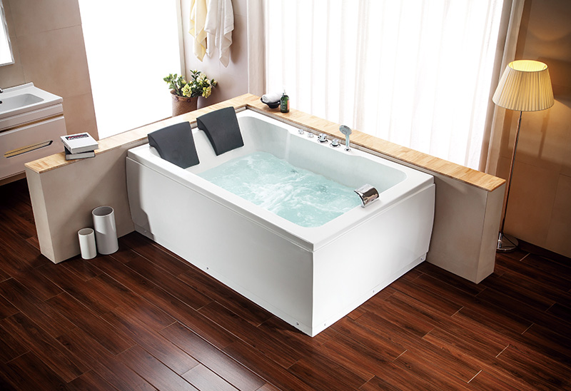 A051 180cm Two Person Massage Bathtub Jacuzzi Function