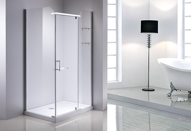 A1008F 5/6/8mm Glass Hinge Open Door Rectangular Shower Room