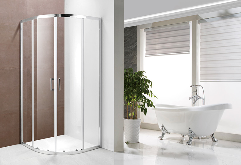 A1211 4/5/6mm Glass Door Quadrant Sliding Shower Enclosure