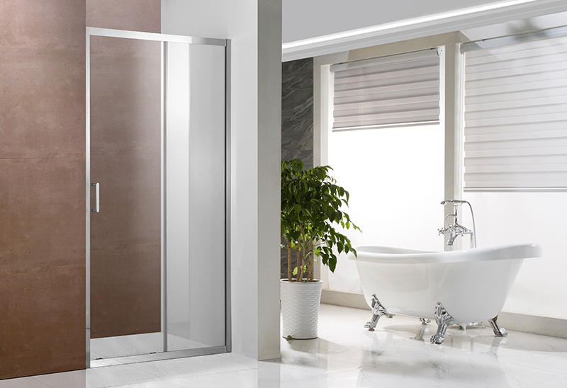 A1341 5/6mm Glass Stainless Steel Frame Shower Door