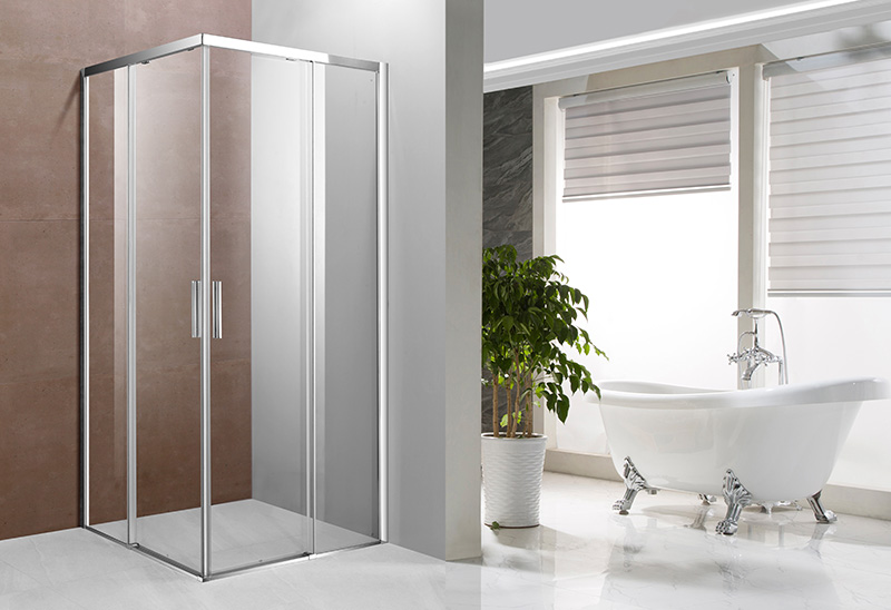 A1421B 4/5/6mm Glass Square Sliding Shower Enclosure