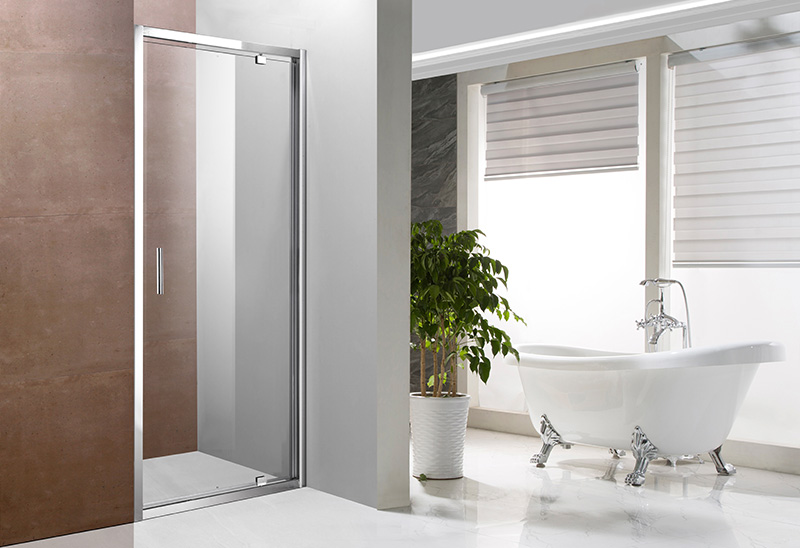 A1444 4/5/6mm Glass Pivot Shower Door Screen for Bathroom