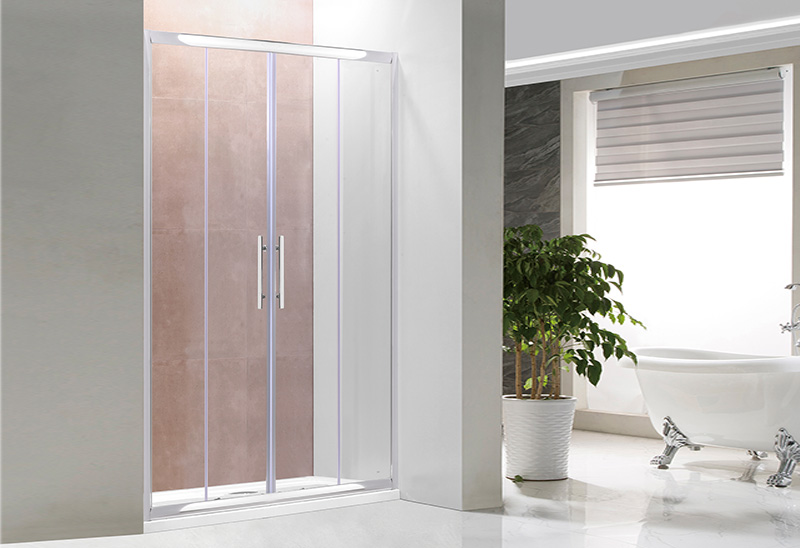 1741-2 Two Sliding Door Shower Enclosure Straight Shower Screen
