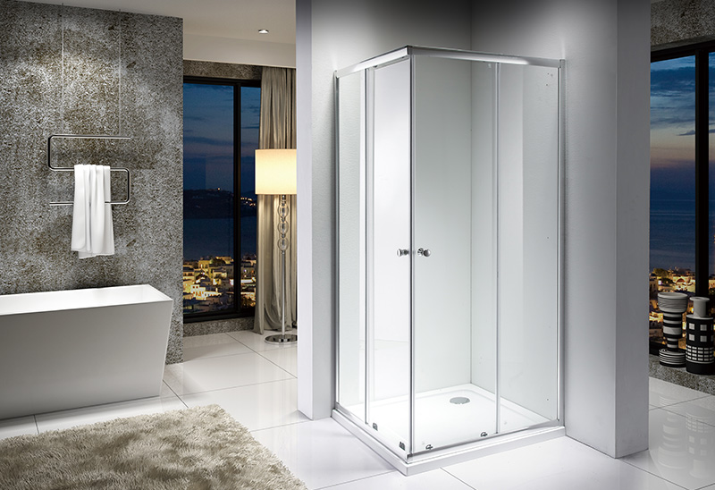 1988F 4/5mm Square Sliding Shower Enclosure