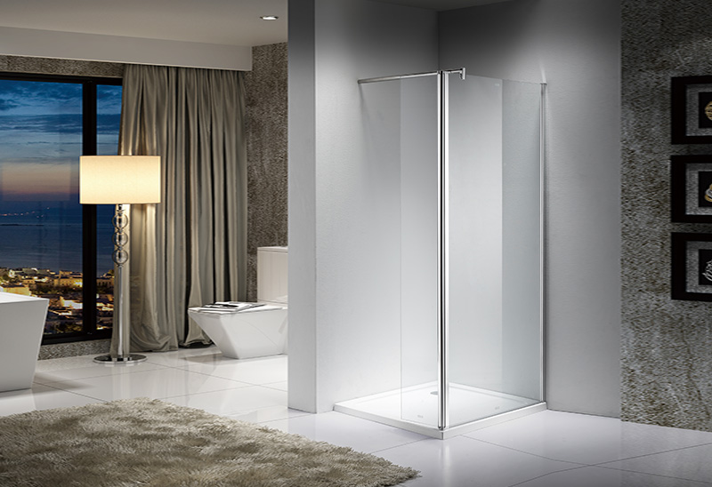 2004 5/6mm Glass Wet Room Walk In Shower Enclosure