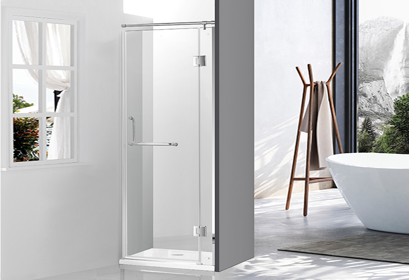 A2443-1 8/10mm Glass Stainless Steel Frame Shower Door
