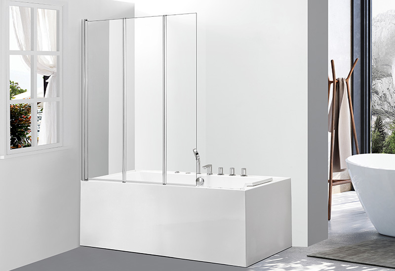 542-3 5/6mm Tempered Glass Bath Screens On Bathtub