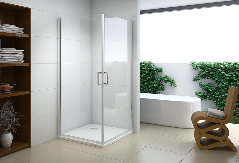 622-2 5/6mm Pivot Open Glass Shower Enclosure