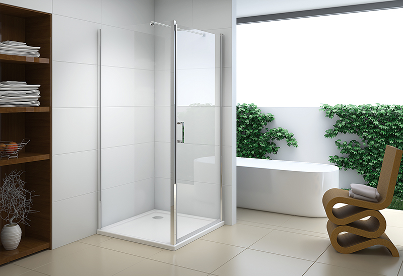 622-7 5/6mm Pivot Open Square Shower Room Enclosure