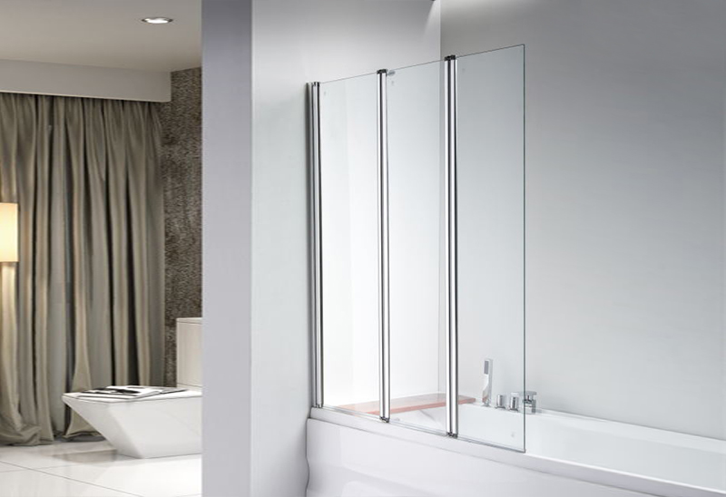 642-3 5/6mm Tempered Glass Shower Bath Screen