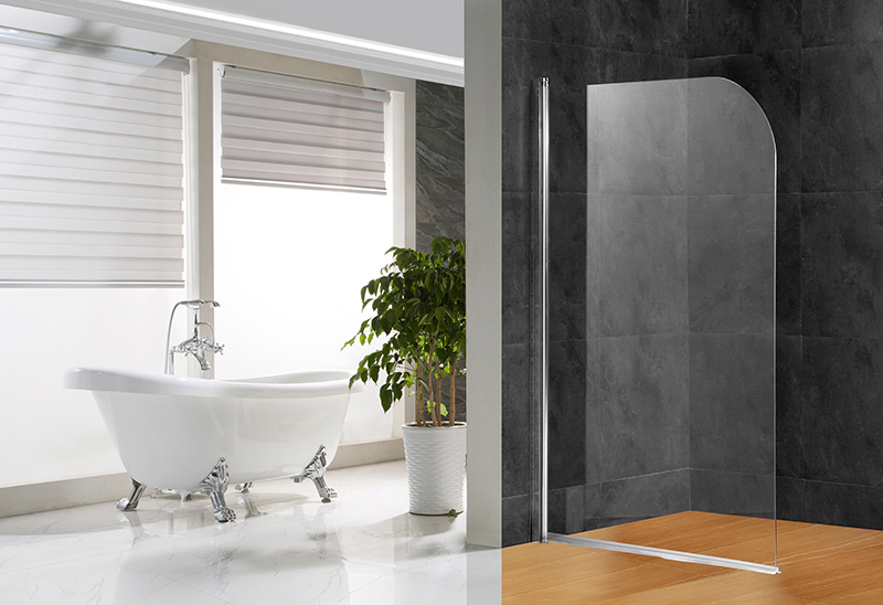 642-A 5/6mm Tempered Glass Shower Tub Screen