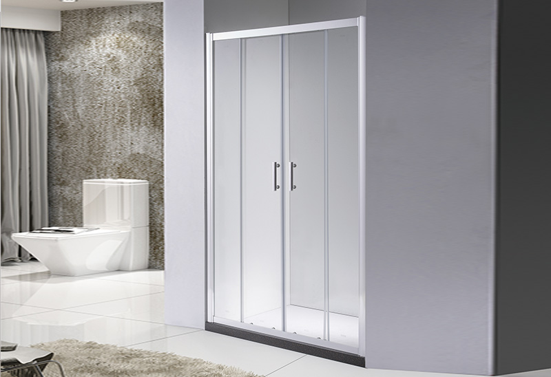 A9070 2 Glass Door Open Sliding Shower Sceen Straight