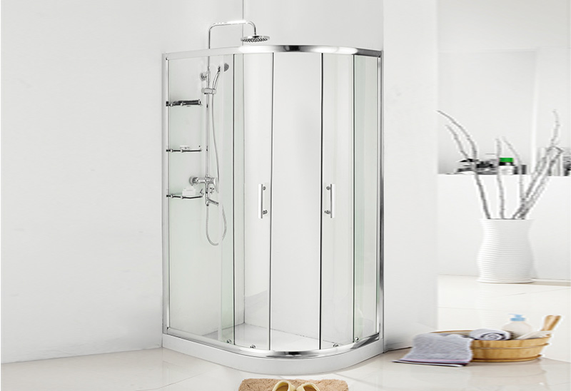 A9177 5/6/8mm Sliding Glass Door Offset Quadrant Shower Room