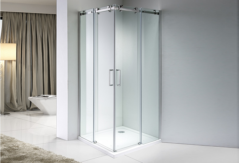 A9180B-4F 6/8mm Sliding Glass Square Shower Enclosure