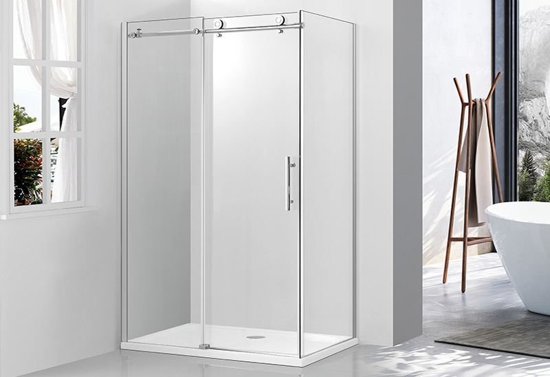 9180C 6/8mm Glass Door Rectangular Sliding Shower Enclosure