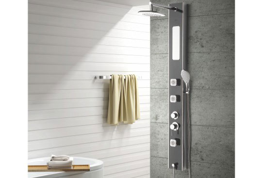 MV-H308B Thermostatic Black Shower Panel