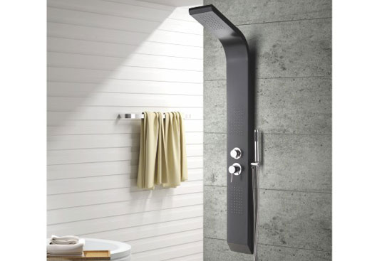 MV-L691Black Color Aluminum Alloy Shower Panel