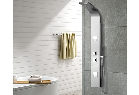 MV-X193 Stainless Steel  Large Thermostatic Shower Panel