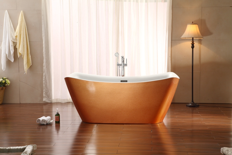 70 inch Pearl Golden Luxury Freestanding Bathtubs