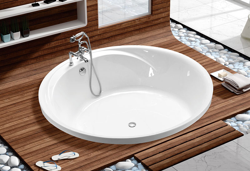 MV046K 145 160cm Round Bathtub Build In