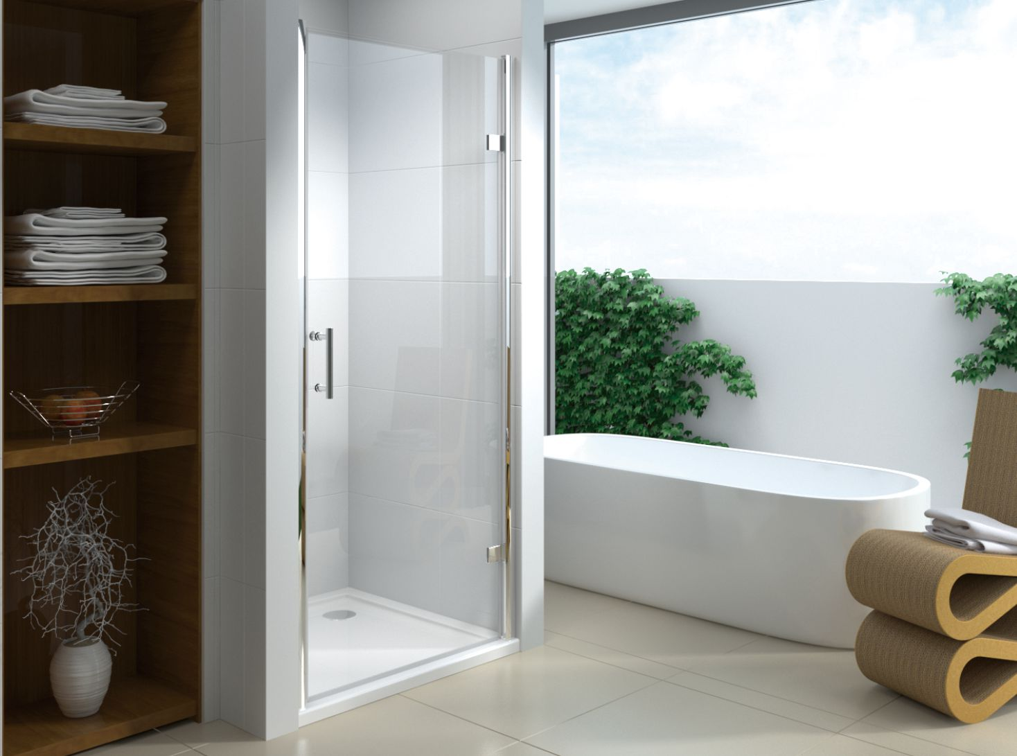 A1845-1 4/5/6mm Glass Hinge Open Shower Door