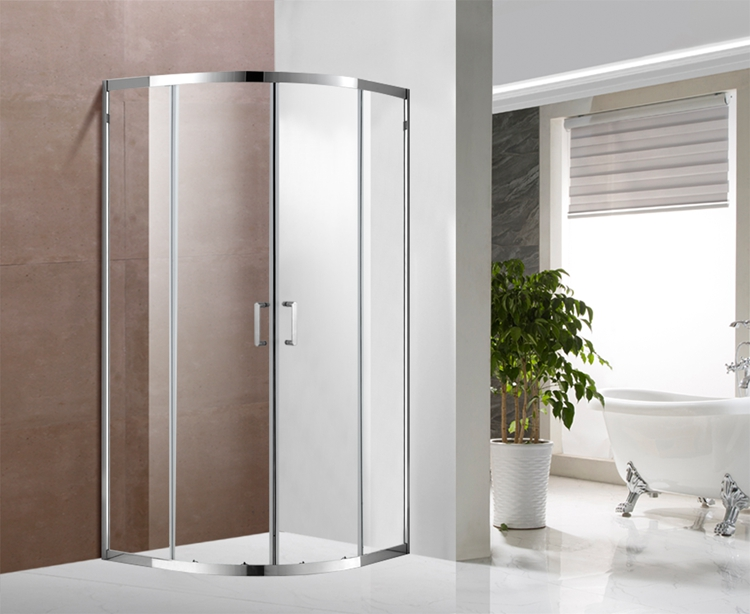 A1311 5/6mm Glass Sliding Shower Enclosure With Stainless Steel Profile